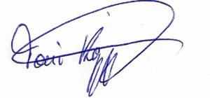 Unterschrift Toni Köppen